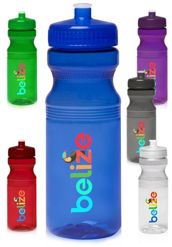 24 oz Poly-Clear Bike Water Bottles