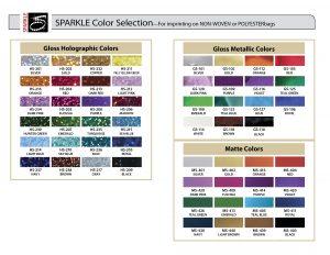 Sparkle Color Chart