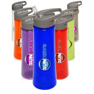 22 oz Plastic Sports Water Bottles Drink Spout APG148
