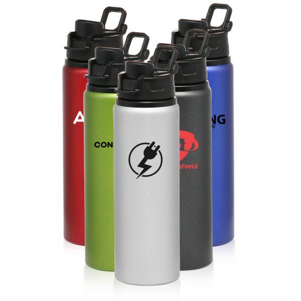 25 oz Aluminum Water Bottles Snap Lid AAB153