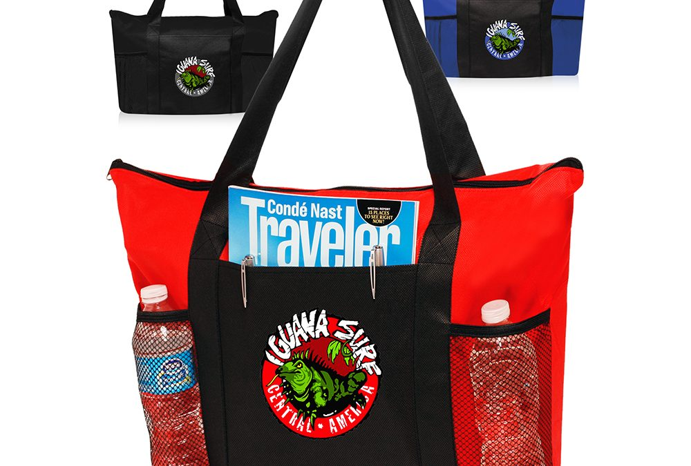 Zippered Non Woven Tote Bags