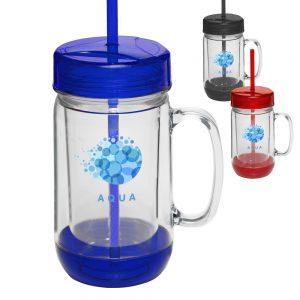 26 oz Accent Color Mason Jar Mugs APG134
