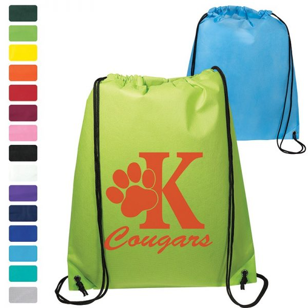 Econo Non Woven String Backpack LT-4214 Drawstring Bags