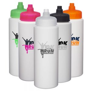 32 oz HDPE Plastic Water Bottles with Quick Shot Lid AWBRSB3